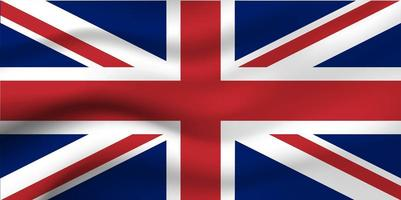 Flagge von England Hintergrund vektor