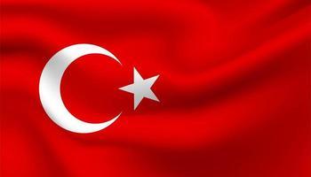 flagga med Turkiet bakgrund