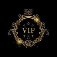 runder, goldener VIP-Luxusrahmen vektor