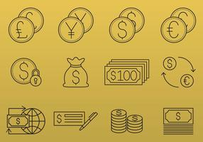 Geld und Währung Icons vektor