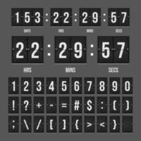 Countdown-Timer für mechanische Anzeigetafel vektor