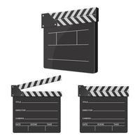 director clapboard isolerad på vit bakgrund vektor