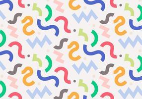 Dekoratives lockiges Muster vektor