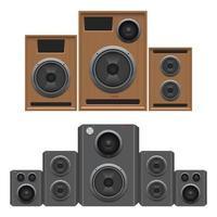 Audio-Lautsprecher isoliert auf weißem Hintergrund vektor