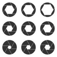 Kameraöffnung isoliert auf weißem Hintergrund vektor