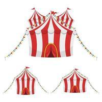 Zirkuszeltvektorentwurfsillustration lokalisiert auf weißem Hintergrund