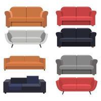 soffa isolerad på vit bakgrund vektor