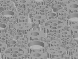 Technologiemuster-Hintergrundvektor mit Kreis vektor