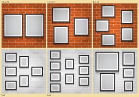 Collage Väggar vektor