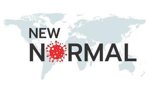 ny normal efter coronavirus design vektor