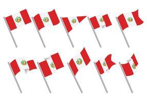 Gratis Peru Flagikoner Vektor