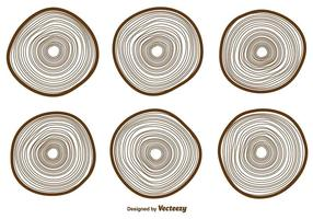 Vector Tree Rings Icons Sammlung