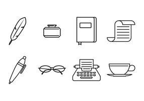 Schriftsteller-Symbol