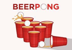 Låt oss spela öl pong! vektor