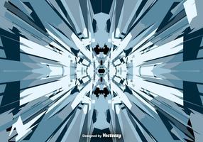 Vector Abstract Zerschmetterten Crack Glass