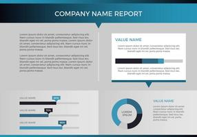 Freier Geschäftsbericht Vektorpräsentation 18