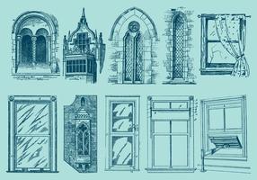 Fensterzeichnungen vektor
