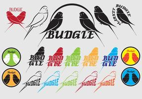 Budgie bagde icon logo vektor