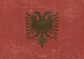 Grunge stil flagga i albanien vektor