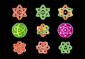 Set av Atomium Vector