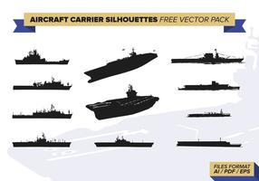 Flygplanbärare Silhuetter Gratis Vector Pack