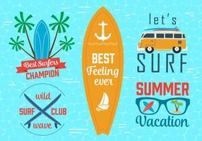 Gratis Vector Surfing Grafik och Emblem