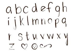 Letras bokstäver alfabet set d vektor