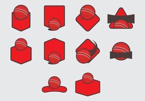 Dodge Ball Vorlage Icon Set vektor