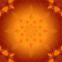 orange Mandalamuster