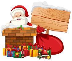 jultema med santa och presenter vektor