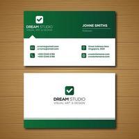 grönt visitkort