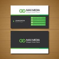 grüne und graue Visitenkarte