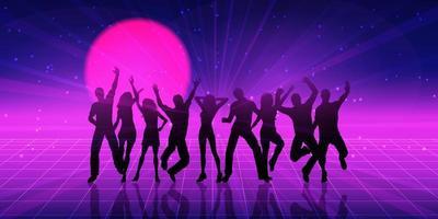 Retro-themenorientiertes Party-Personenbanner
