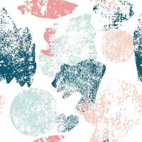 färgglada grunge penseldrag sömlösa mönster vektor