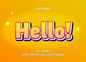 bearbeitbarer Text in Gelb mit Verlaufseffekt und Umrissen vektor