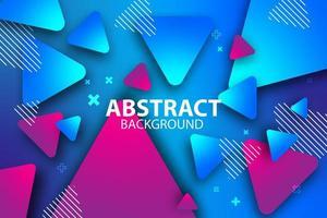 modernes blaues und rosa schwebendes Dreieckdesign