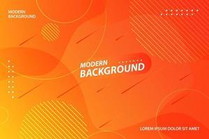 Orangenverlauf dynamische Form modernes Design vektor