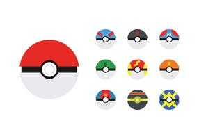 Gratis Poke Ball Vector