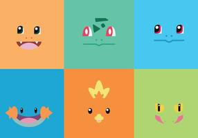 Starter Pokémons i vektor