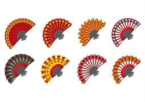 Spanische Fan-Ikonen vektor