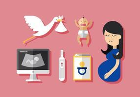 Vektor schwangere Mama