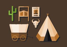Vektor Cowboy och Wild West Pack
