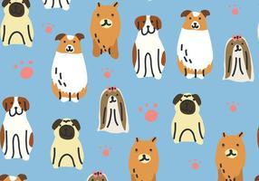 Hundemuster vektor