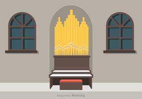Free Pipe Orgel Vektor-Illustration vektor