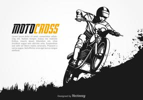 Gratis Vektor Motocross Illustration