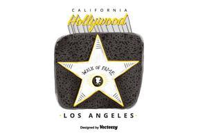 Kostenlose Hollywood Walk Of Fame Aquarell Vektor