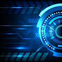blå abstrakt cirkulär form teknik futuristisk deisgn vektor