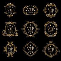 VIP Gast Luxus Rahmen Set vektor