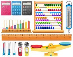 Satz verschiedener Messwerkzeuge vektor
