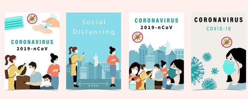 Plakatset für covid-19